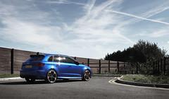 Audi RS3 (Daz85) Tags: audi rs3 audirs3 audirs blue sepang sepangblue uk britain car automobile fast quick sky tree landscape wheel road canon 60d canon60d daz85uk
