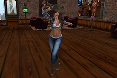 Dance 004 (Jessica Jane 2017) Tags: second life sl virtual model dancing woman women girl girls tight jeans hat