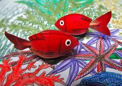 MM 1 October 2018: Carp Diem (To His Koi Mistress) (jefalump) Tags: macromondays perfectmatch koi colouringbook pistachio magnet fish sea macro