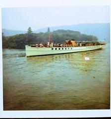 MV Swift on Lake Windermere in 1969. Built 1900 at Glasgow and converted from steam to diesel in 1956. (Bennydorm) Tags: 20thcentury victorian 1900 windermeresteamers marine lakeside windermerelakecruises vintage mvswift englishlakeland lake inghilterra inglaterra angleterre europe uk gb britain england lakedistrict cumbria 1960's agua aqua eau wasser water britishrail sealink lakewindermerecruises swift 1969 pleasurecruiser vessel boat lakecruiser cruise windermere lakewindermere lakeland