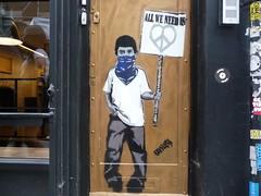 London 2018 (bella.m) Tags: graffiti streetart urbanart london greatbritain art stencil pochoir allweneedis unify peace love heart