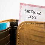 Shopping list stuck in a wallet thumbnail