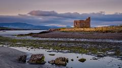 Last Kiss (cogy) Tags: mccarthys castle tower fort ruin building historic ballinskelligs kerry ireland beach ocean sea coast landscape sunset sunlight cloud wildatlanticway west atlantic