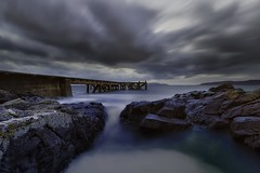 Portencross Pier (David C Laurie) Tags: portencross pier portencrosspier ayrshire scotland water longexposure time tide clouds cloudscape landscape tidal nd1000