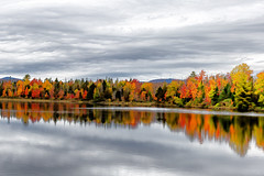 High Key Fall (Bob90901) Tags: highkey fall berlinrd newhampshire hss sliderssunday autumn afternoon rpg90901 fallcolor foliage sky water color windturbines canon 6d canonef70200mmf28lisiiusm canon70200f28lll trees reflection 2018 october 1342 outdoor pontookreservoir nhroute16 clouds