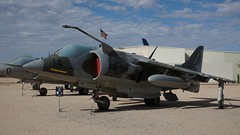 Hawker Siddeley AV-8C Harrier Mk 50 159241 in Tucson (J.Comstedt) Tags: aircraft flight aviation air aeroplane museum airplane us usa planes pima space tucson az hawker siddeley briyish aerospace harrier 50 navy marine corps 159241 av8