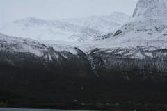 Cirque and village 2 (bigjon) Tags: norway arctic scandinavia hurtigruten ship norse cirque village fjord