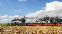 IMG_1869 CR (mike.wilson1294) Tags: railroad trains nature crops fall photography canon steam clouds sky trees earth union pacific norfolk western passenger people