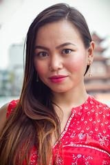 District 4 Portrait (phil.w) Tags: pentax k1 fullframe fa77 77mm portrait beautiful woman red temple bokeh vietnam ho chi minh district 4 smcpfa77mmf18