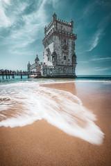 Belem Tower (steinmetznicolas) Tags: 2018 lisbonne portugal septembre lisbon lisboa landscape water belem tower waves sky fuji fujifilm xt2