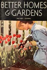 Tulip Gardening (saltycotton) Tags: garden flowers tulips betterhomesgardens vintage magazine advertisement ad 1937 1930s
