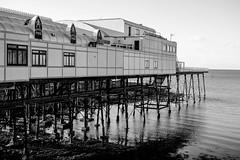 Royal Pier - Aberystwyth (njackson197111) Tags: royal pier aberystwyth wales black white nikon d7100 sea coast