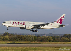 Qatar Cargo 777-F A7-BFB (birrlad) Tags: liege lgg airport belgium aircraft aviation airplane airplanes airline airliner airlines airways arrival arriving approach finals landing runway cargo freighter freight transport boeing b777 b77l 777 777f 777fdz a7bfb qatar qatari miami qr8158