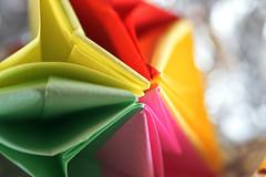 FOLDED (Tanja-Milfoil) Tags: colour coloured bunt paperflower papierblume paper nahaufnahme makro raynox nikon milfoil tanja basteln falten gefaltet zerknirscht zerknittert creased wrinkled wrinkle crinkled crinkle folded macromondays macromonday macro