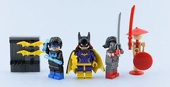 Dc minifigs #14 : Heroes from DC S-V🔪 (Alex THELEGOFAN) Tags: lego legography minifigure minifigures minifig minifigurine minifigs minifigurines dc comics super heroes katana batgirl nightwing