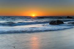 Clear Skies Sun Rising Seascape (Merrillie) Tags: daybreak sunrise seashore nature dawn australia surf centralcoast morning weather newsouthwales waves noraville nsw sea beach ocean sky landscape earlymorning coastal waterscape outdoors seascape hargravesbeach coast water seaside