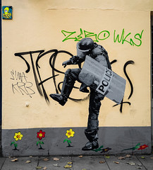 HH-Wheatpaste 3859 (cmdpirx) Tags: hamburg germany reclaim your city urban street art streetart artist kuenstler graffiti aerosol spray can paint piece painting drawing colour color farbe spraydose dose marker stift kreide chalk stencil schablone wall wand nikon d7100 paper pappe paste up pastup pastie wheatepaste wheatpaste pasted glue kleister kleber cement cutout