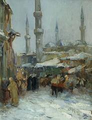Fausto_Zonaro_(attr)_Istanbul_im_Winter (skaradogan) Tags: fausto zonaro