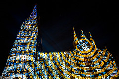 "A light installation on Cologne Cathedral commemorates Word War I - ""Dona Nobis Pacem"" (patuffel) Tags: lightinstallation light show cologne cathedral word war lichtinstallation unesoco photokina 2018 köln kölner dom first i leica 20 28mm dona nobis pacem 100 years hartung trenz georg detlef m10"