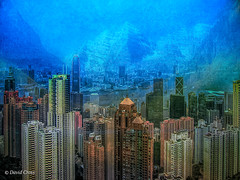 If Hong Kong Were in Tibet (HSS) (buffdawgus) Tags: canonpowershots400 asia kowloon lightroom6 topazstudio cityscape hongkong china urbanlandscape