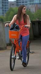 City Bike (Scott 97006) Tags: tourist woman female lady rider bicycle touring riding