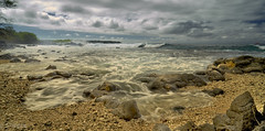 Incoming water (LE), La Perouse Bay, Maui, Hawaii 8715 (doug.h.butler) Tags: maui hawaii laperousebay seascape longexposure landscape landscapephotography skyandclouds sky beach beachphotography lava lavaflow lavarocks