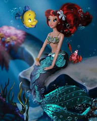 Flippin your fins (They Call Me Obsessed) Tags: ariel little mermaid princess sebastain flounder ocean disney doll dolls barbie limited editon