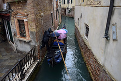 Rainy day in Venice (varnaboy) Tags: italy venice boat water canals umbrellas gondola canal rain people buildings