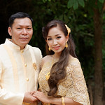 A Cambodian couple in traditional clothing for a pre-wedding shoot thumbnail