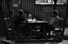 (foto.pooyan) Tags: sigarette youngs boys park streetphotography turkey bnw smoke cocacola