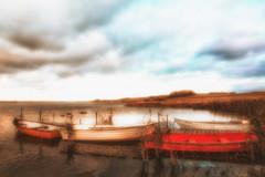 Glenstrup Sø - Både ved anløbsbro 3 (Walter Johannesen) Tags: glenstrup sø landskab eftermiddag vand både joller