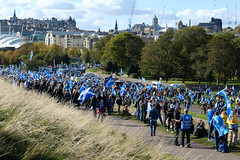Scottish Independence and pro EU march, Police Scotland estimate 193,000 people