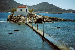 Agios Isidoros_1 (SadFo_x1) Tags: light cape rock island water landscape leros summer travel church temple girl woman blue sea natural classic beach nature greece white