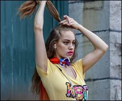 Hair Fixing Pride - Ottawa Pride 2018 (Dan Dewan) Tags: 2018 canonef70200mmf14lisusm portrait bankstreet street people person lady colour pride ottawa sunday girl woman august ontario canada summer dandewan canon ottawapride