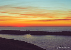 Atardecer A Coruña (Javipe foto) Tags: atardecer sunset sun sol puestadesol paisaje puesta de agua water sea coruña acoruña galicia spain españa europa europe run corredores correr deporte naranja azul turquesa hojas montaña paseo