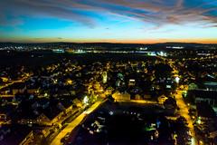Wiesendangen by Night (simon_walser) Tags: clouds cloud sky bluesky night dronephotography drone dji djimavic air