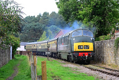 Onslaught at Whitecroft. (curly42) Tags: d832 warship onslaught class42 preservedhydraulicloco dfr whitecroft deanforestrailway locohauled
