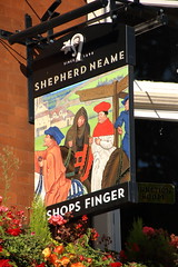 Pub sign for The Bishops Finger, Smithfield. (Peter Anthony Gorman) Tags: pubsigns bishopsfinger shepherdneame smithfield
