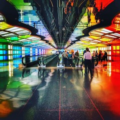 [X] • Crossing continents... ✈️🌈 • #latergram #chicago #chicagoairport #ohareairport #chicagoohare #underground #x #xmarksthespot #colors #colours #rainbow #lighting #walkway #travelator #lighting #lightingdesign #reflection #reflections # (daveoleary) Tags: x • crossing continents ✈️🌈 latergram chicago chicagoairport ohareairport chicagoohare underground xmarksthespot colors colours rainbow lighting walkway travelator lightingdesign reflection reflections diagonal diagonals cornertocorner citylife silhouettecameo silhouette lights travel photography photooftheday airport
