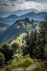 Alpine Trail (nhblevins) Tags: austria mountains trails salzkammergut clouds woods alps