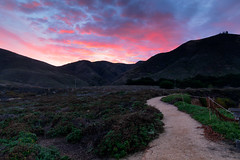 There is nothing new in the world except the history you do not know… (ferpectshotz) Tags: garrapattastatepark soberanespoint spoeranespointtrails rockyridgetrail bigsur carmel coast pacificcoastroad pacificcoast caroute1 california color pink red clouds twilight sunrise beauty naturetrails hills path rural landscape nature