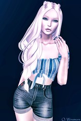 Dafnis Clothes : Priscila -Shorts & Top (Ombrebleue Winsmore) Tags: dafnisclothes priscila top shorts fashion couture