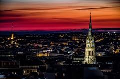 Eglise de St Martin Brest (erwancalves) Tags: fknis church eglise sunset bretagne brest groupenuagesetciel