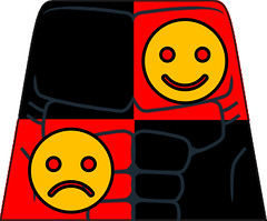 Psycho Pirate - Torso (RooFigs) Tags: psycho pirate decal lego print crazy red black faces mask