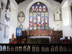 Carmarthen - St Peter's (pefkosmad) Tags: carmarthen carmarthenshire wales churchinwales christianity parishchurch church placeofworship hallowedground religion worship holiday vacation vacances altar stained glass window