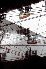 windows and wires (nika.vero) Tags: windows wires shadow shadows experiment experimental doubleexposure contrast