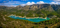 Guadalest, Spain (Vest der ute) Tags: xt20 spain landscape lake mountain rocks sky clouds trees forest water fav25 fav200