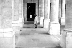 The hesitation (pascalcolin1) Tags: paris palaisroyal colonnes columns hésitation photoderue streetview urbanarte noiretblanc blackandwhite photopascalcolin 50mm canon50mm canon