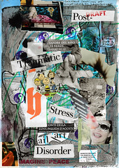 constant feelings of emptiness or hopelessness (dou_ble_you) Tags: mailart morenomenarin doubleyou mixedmediacollageonprintedpaper a4size