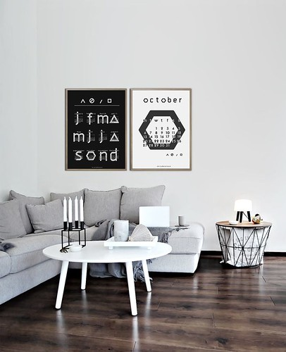 Furniture  - Living Room : October 2014 Free Typographic Printable Calendar
